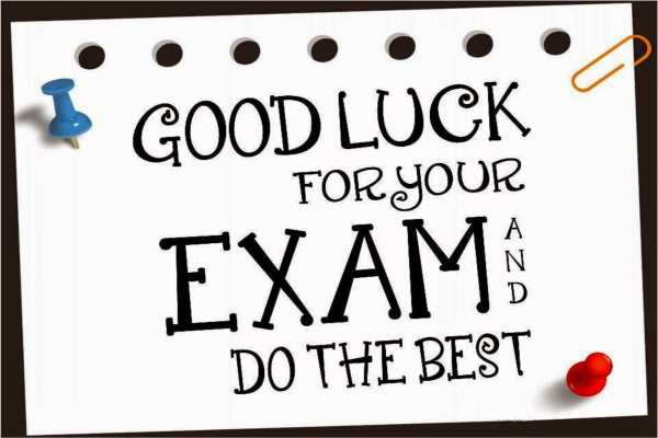 all the best for exams